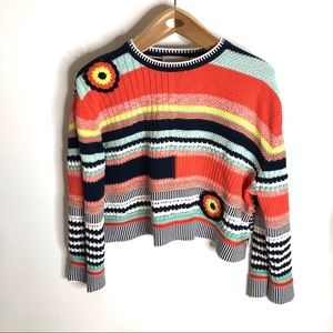 Philosophy Mulicolored Crewneck Sweater Med